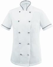 mezza manica cuoco Abbigliamento bicolore Abiti da lavoro giacche wgqTg