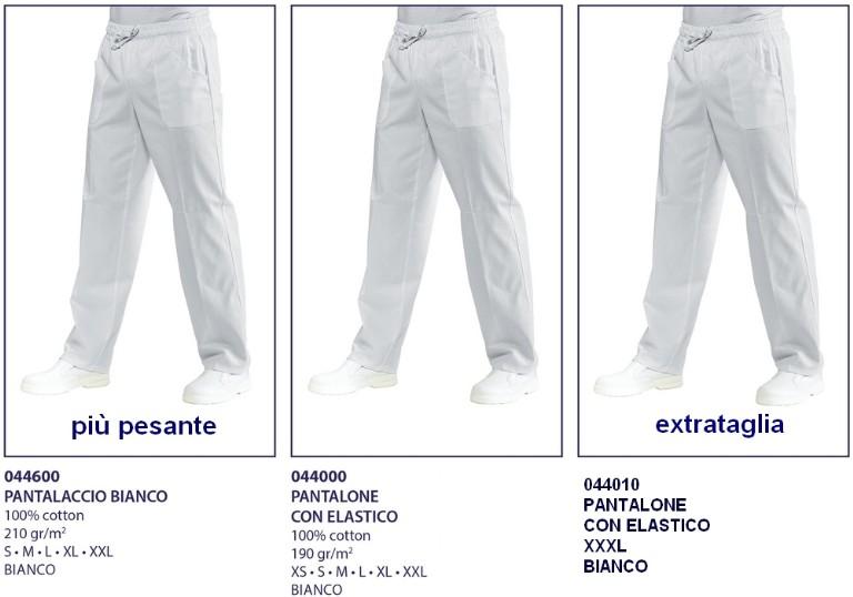 Preferenza pantaloni con elastico bianchi - Abbigliamento da lavoro-Abiti da  EB87
